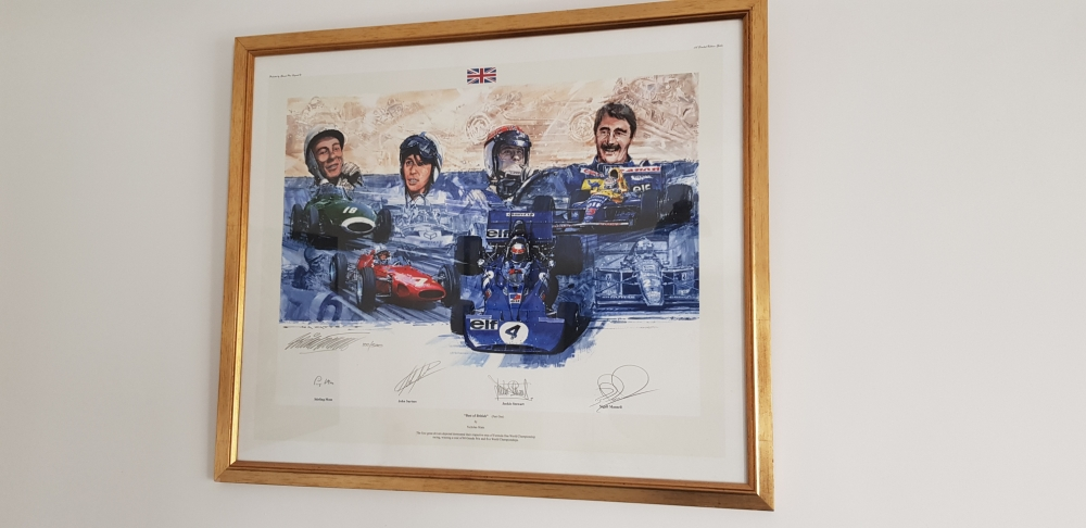Best of British signed by four true greats , this one was John Surtees own copy