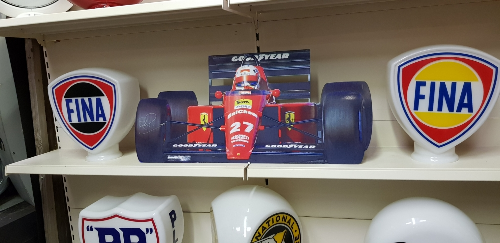 Ferrari alloy sign signed by NIGEL MANSELL