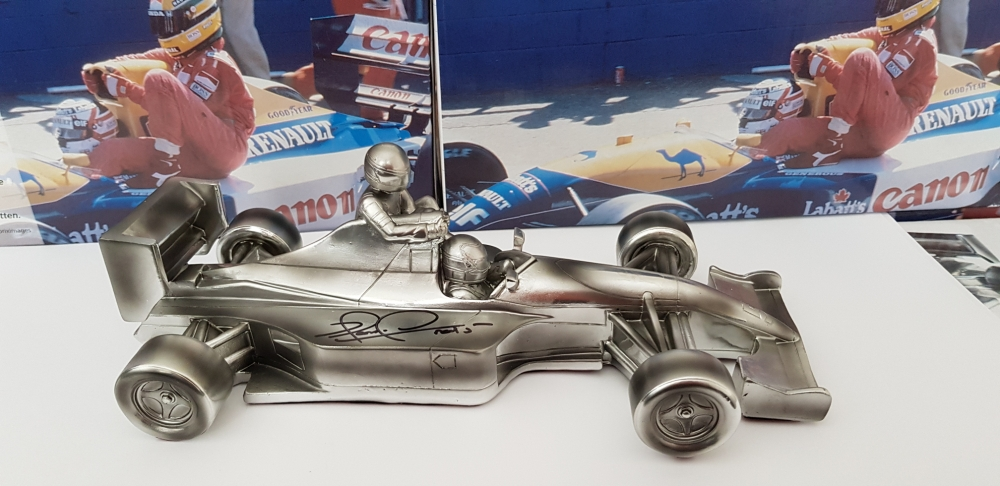 "Mansell ""Taxi for Senna "" cast model , signed !"