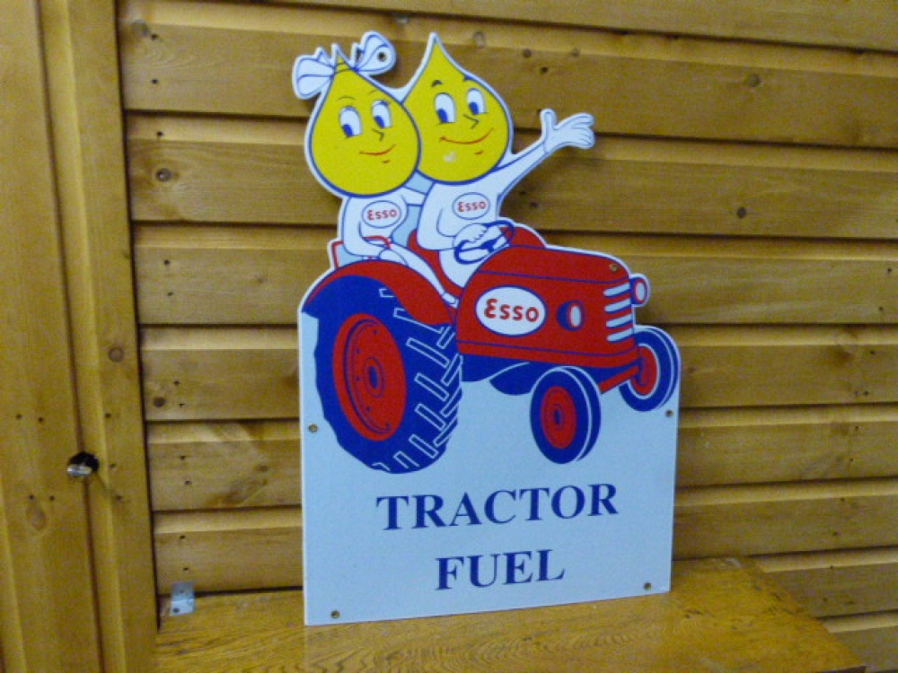 ESSO Tractor sign STUNNING ENAMEL SIGN !!!!!26 inches high