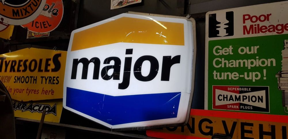 MAJOR plastic garage large sign 60 x 40 inches STUNNING !