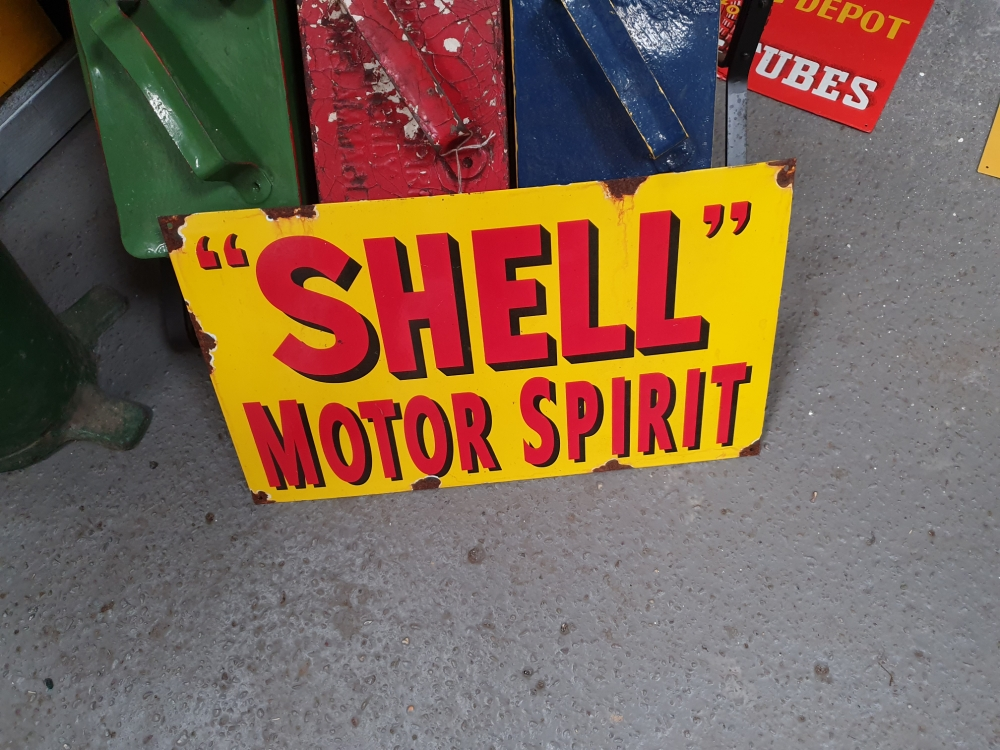 SHELL Enamel sign 20 x 12 inch great display item