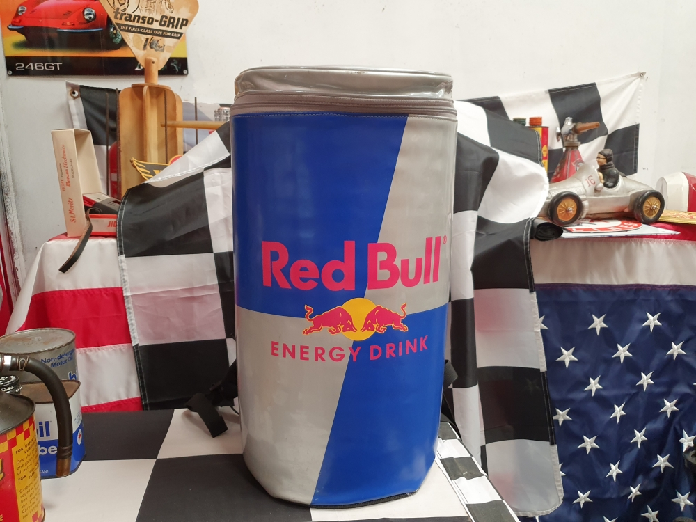 RED BULL can shaped cooler bag from the MINI advert